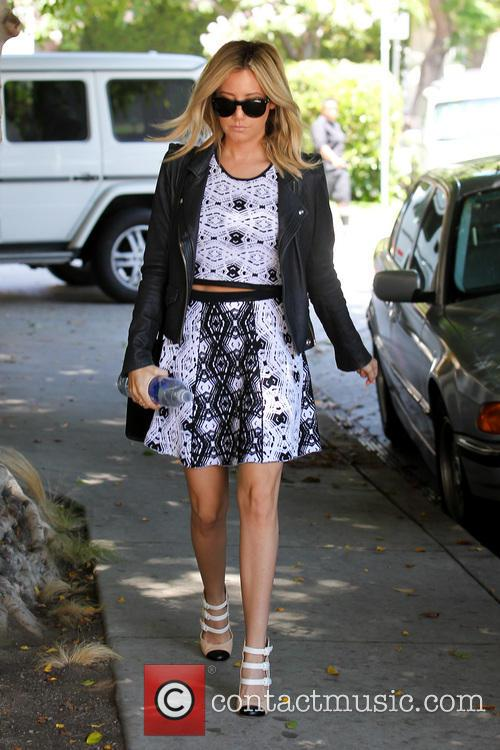 Ashley Tisdale In Summer Tribal Patterned Dress