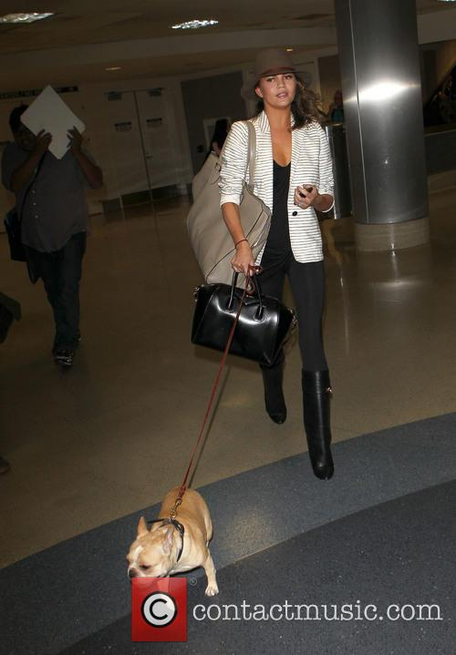 Christine Teigen arriving at LAX