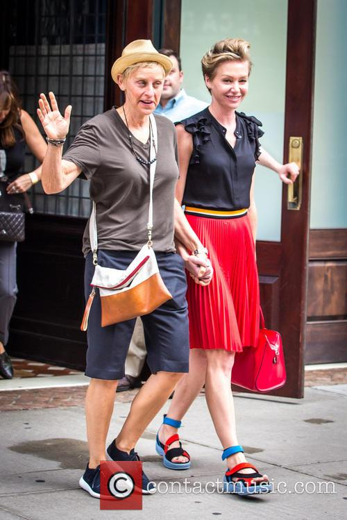 Ellen DeGeneres Leaving A New York Hotel