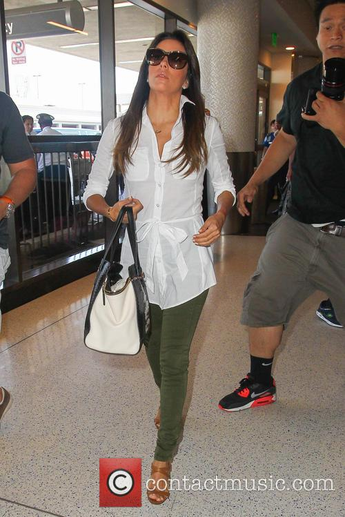 Eva Longoria At Los Angeles International Airport