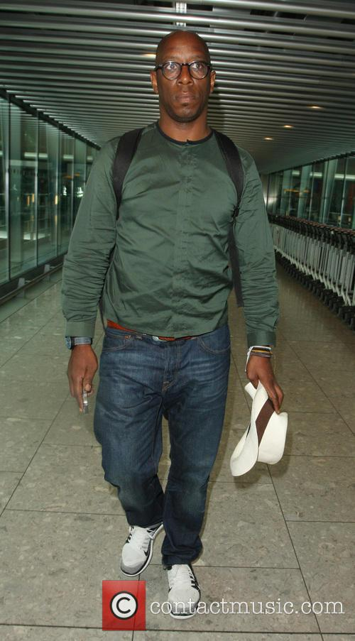 Ian Wright arrives at Heathrow Airport