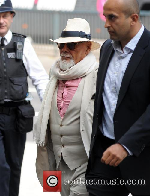 Gary Glitter (real name Paul Gadd) seen arriving...