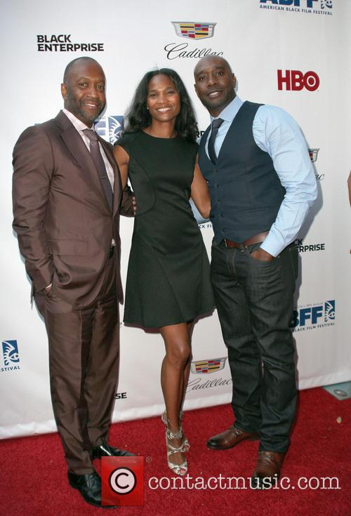 Nicole Friday, Jeff Friday and Morris Chestnut