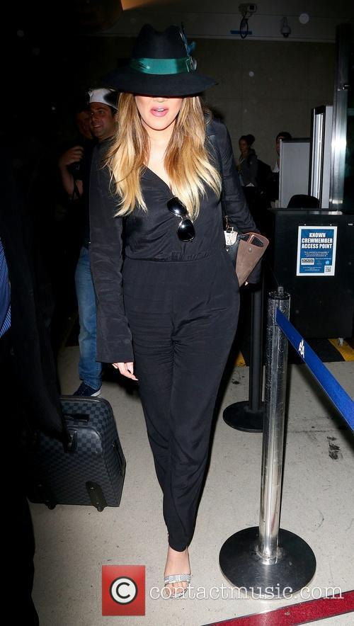 Khole Kardashian arrives at Los Angeles International (LAX)...