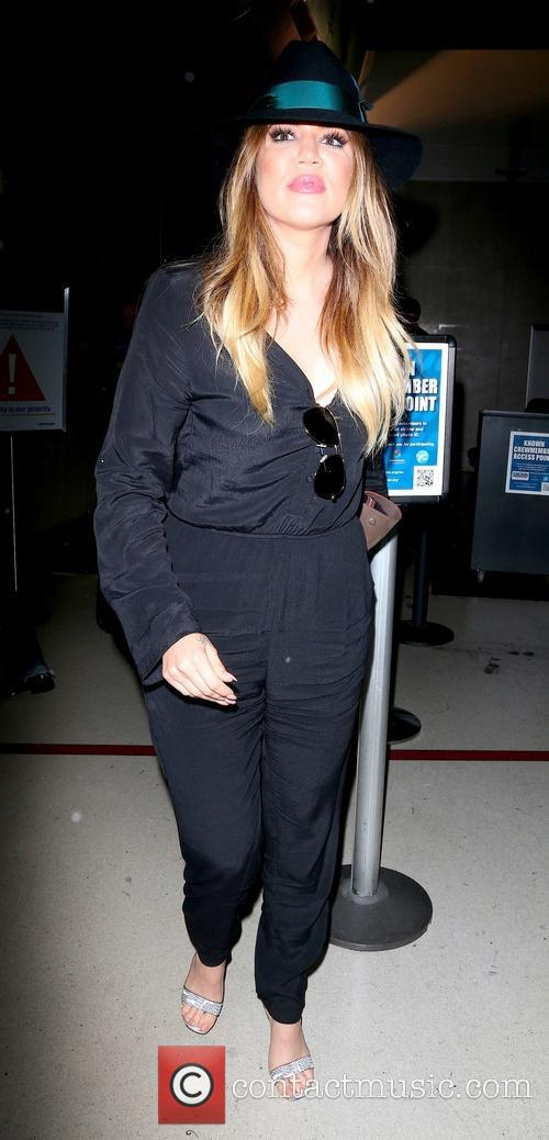 Khole Kardashian arrives at Los Angeles International (LAX)...