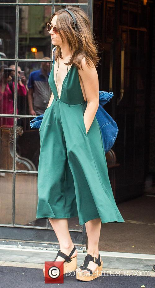 Crystal Reed leaves a New York hotel