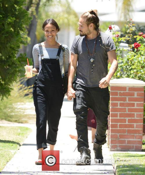 Zoe Saldana spends her birthday with her husband...