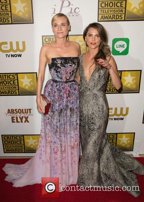 Diane Kruger, Keri Russell, The Beverly Hilton Hotel, Beverly Hilton Hotel