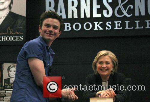 Hillary Rodham Clinton and Chris Colfer 2