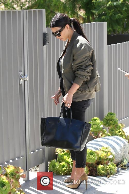 Kim Kardashian visits a private residence in Beverly Hills