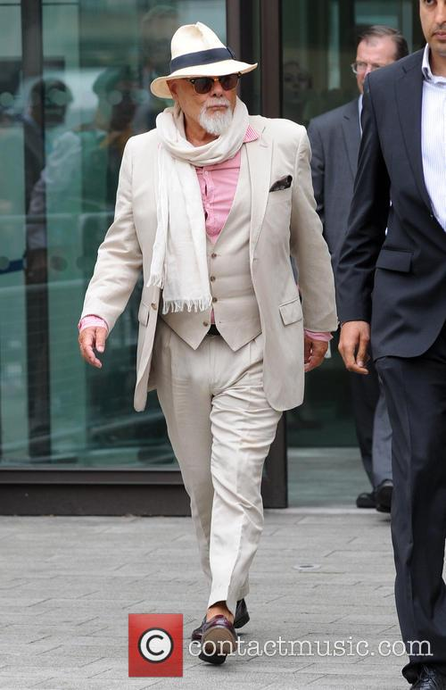 Gary Glitter leaving Westminster Magistrates Court