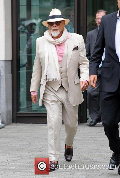 Gary Glitter leaving Westminster Magistrates Court