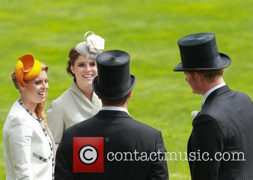 Princess Eugenie, Princess Beatrice, Prince Harry and Peter Phillips 2