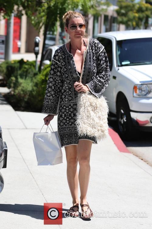 Ellen Pompeo spotted leaving a hair salon