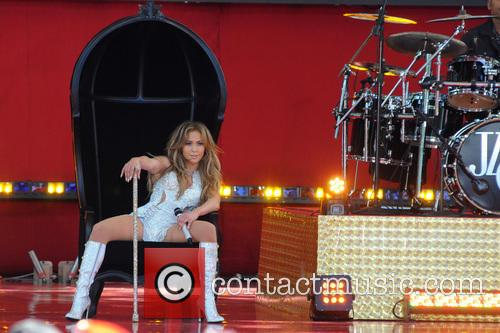 Jennifer Lopez performing live at 'Good Morning America'...