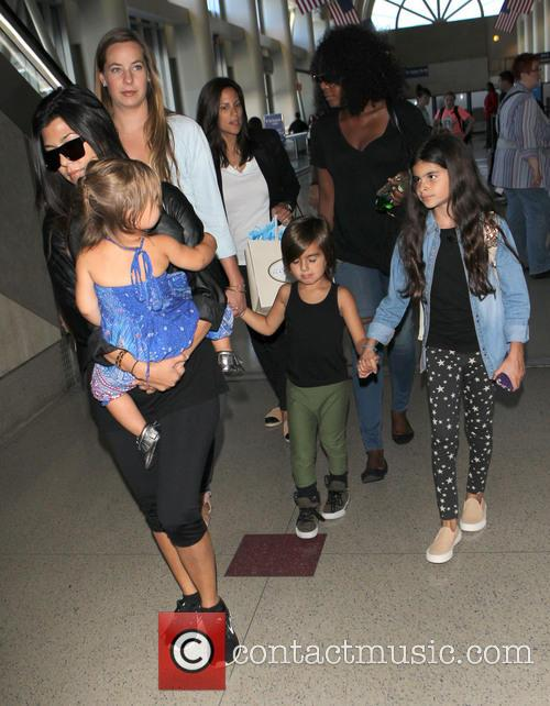 Kourtney Kardashian, Mason Disick and Penelope Disick 12