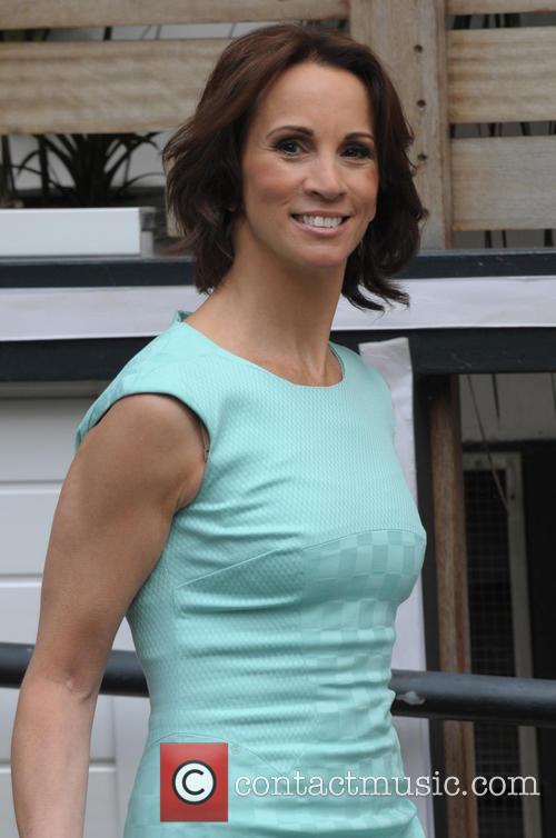 Andrea McLean leaving the ITV studios