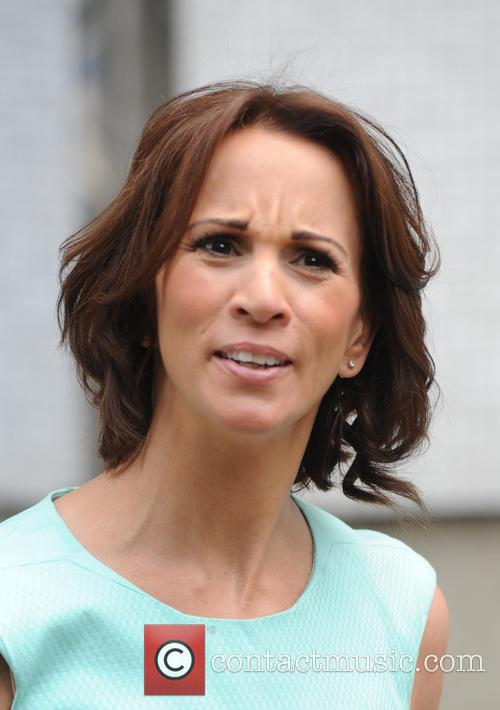 Andrea Mclean spotted outside ITV Studios