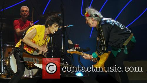 Keith Richards, Ronnie Wood and Charlie Watts 11