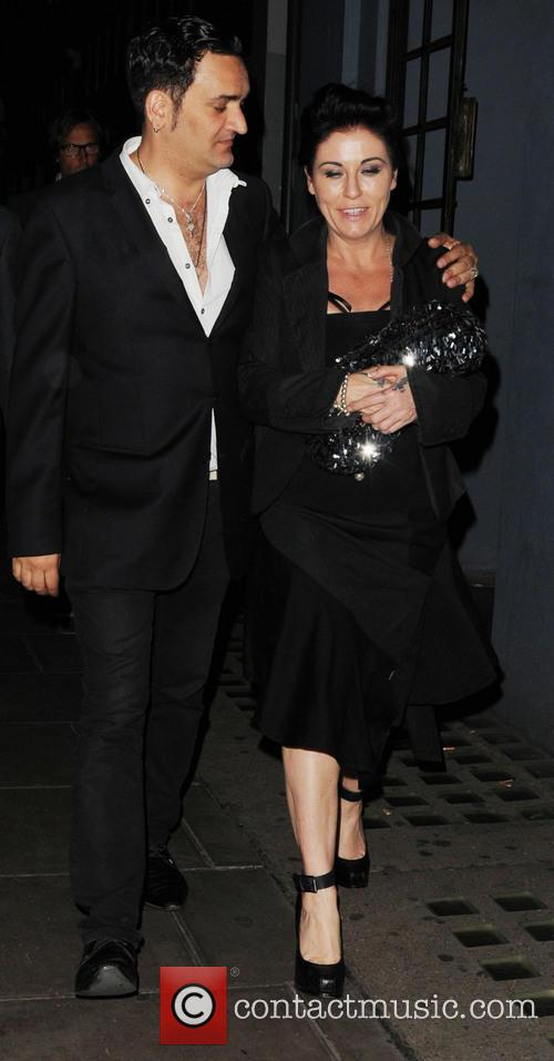 Jessie Wallace spotted leaving the Groucho Club