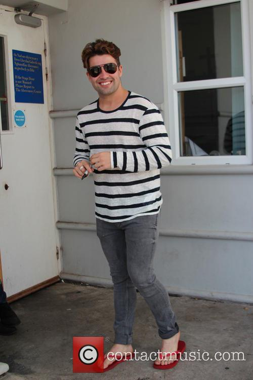 Joe McElderry arrives at Venue Cymru