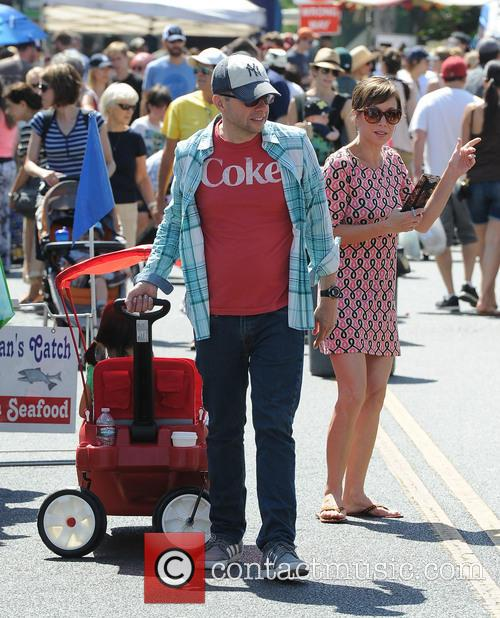 Jon Cryer with his family at the farmers...