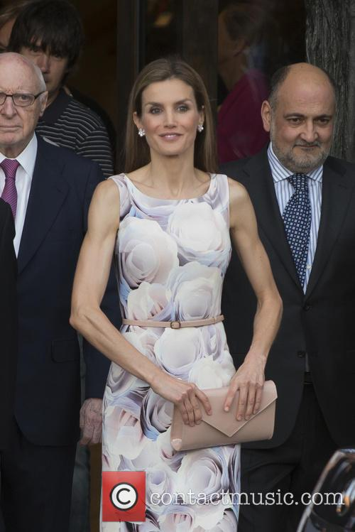 Queen Letizia of Spain At National Padro Museum
