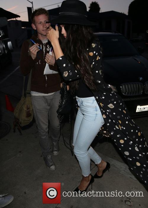 Selena Gomez Arriving At Craig's Restaurant