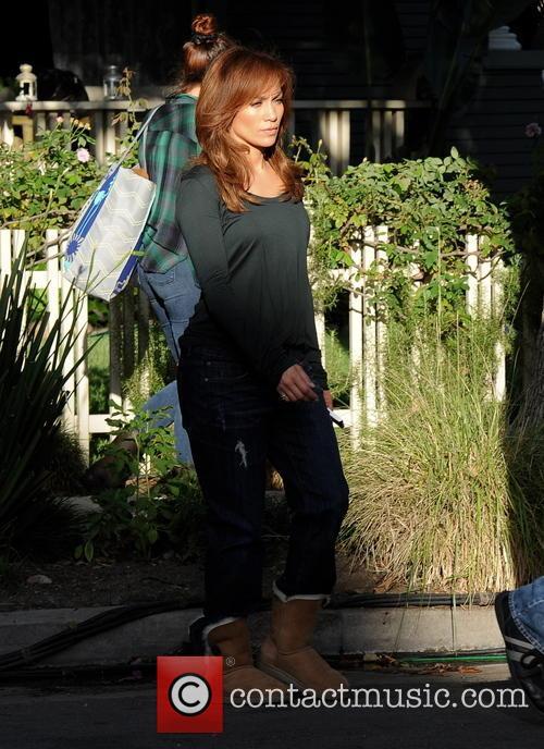 Jennifer Lopez filming \The Boy Next Door\