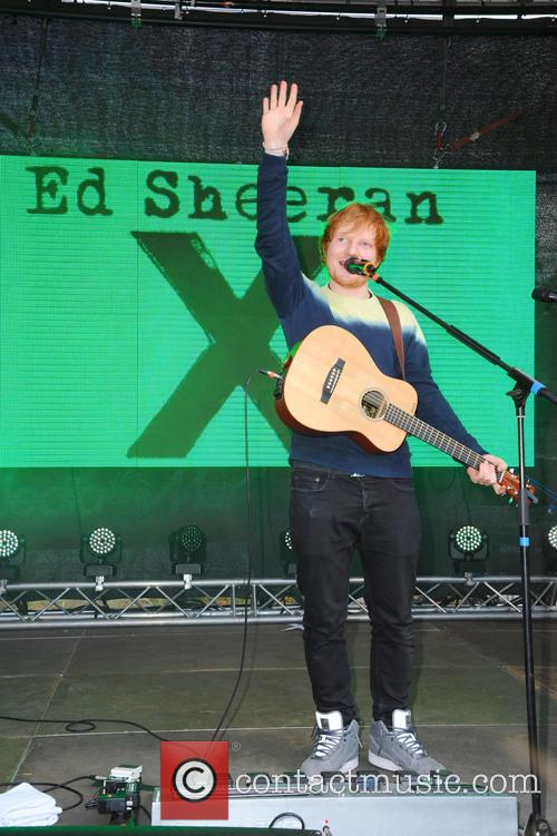 Ed Sheeran promoting his latest CD 'X' during...