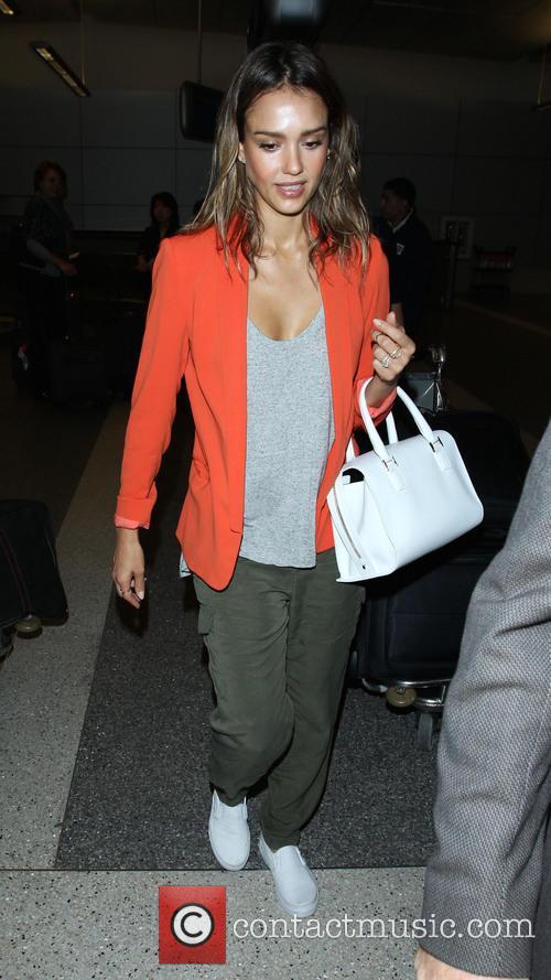 Jessica Alba At Los Angeles International Airport
