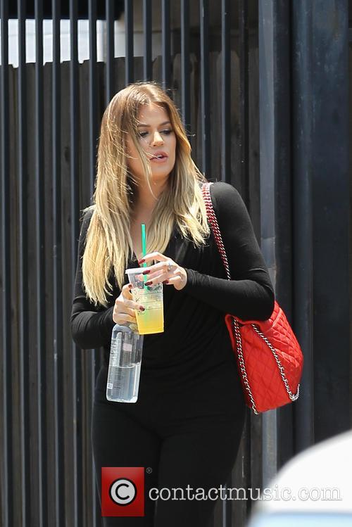 Khloe Kardashian Leaves A Studio