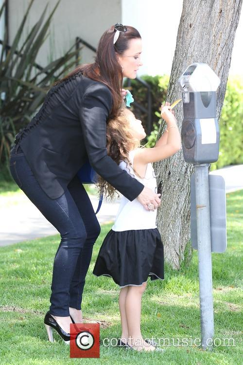 Kyle Richards filming The Real Housewives of Beverly...