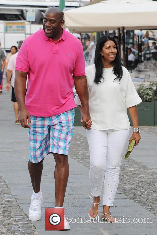 Earlitha Kelly and Magic Johnson 5
