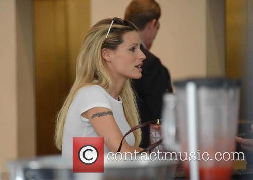 Michelle Hunziker and Tomaso Trussardi at Cafe Trussardi