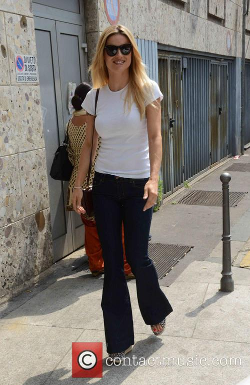 michelle hunziker michelle hunziker out and about 4258888