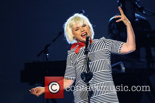 Debbie Harry of Blondie performing in Hamburg