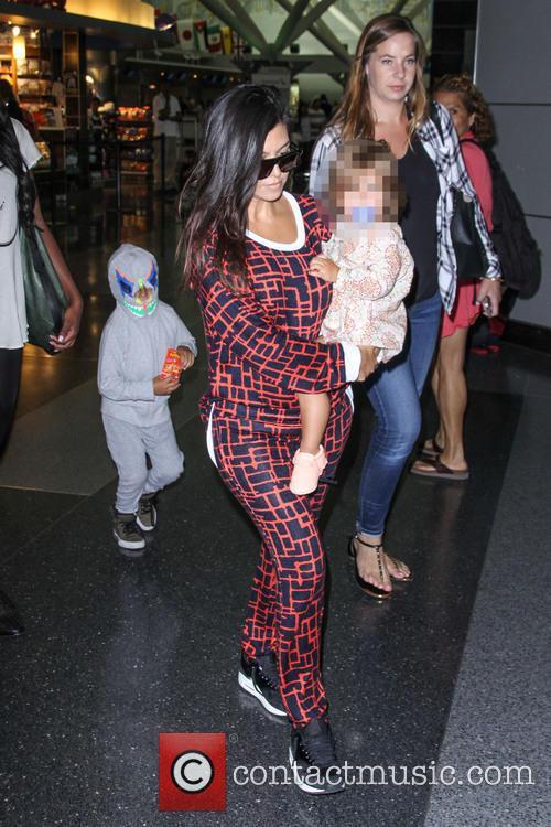 Kourtney Kardashian Arriving At JFK