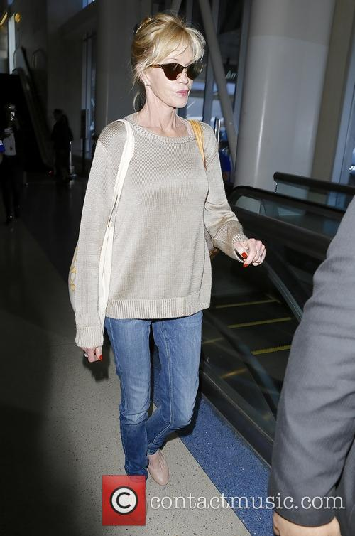 Melanie Griffith At Los Angeles International Airport