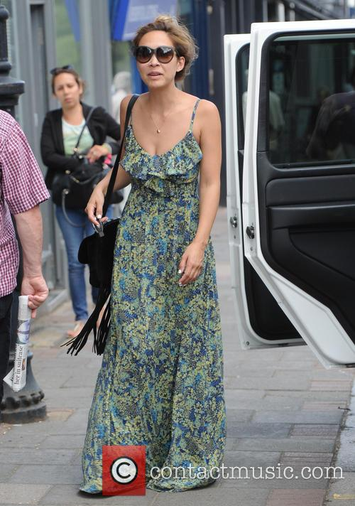 Myleene Klass out and about in North London...