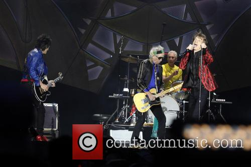Ron Wood, Keith Richards, Charlie Watts and Mick Jagger (the Rolling Stones)