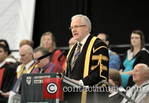 Dr Charles Jencks receives an honorary degree at...