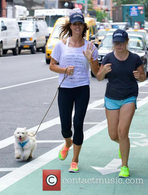 Kelly Killoren Bensimon out jogging with her daughter