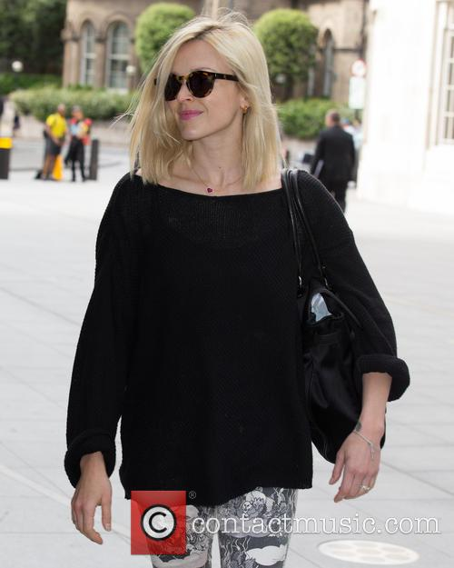Fearne Cotton arriving to host her morning show...