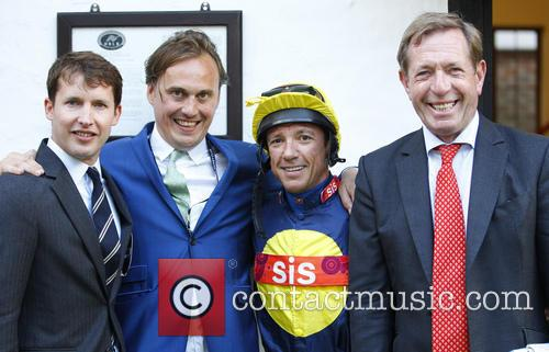 James Blunt, Frankie Dettori and Derrick Thompson