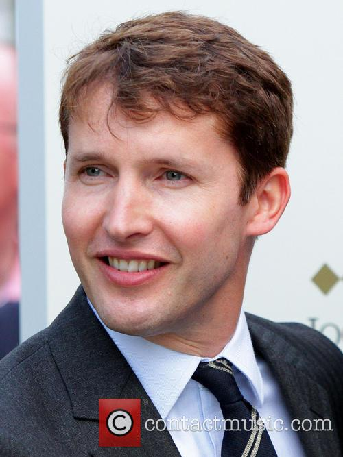 James Blunt appears at Newmarket Racecourse