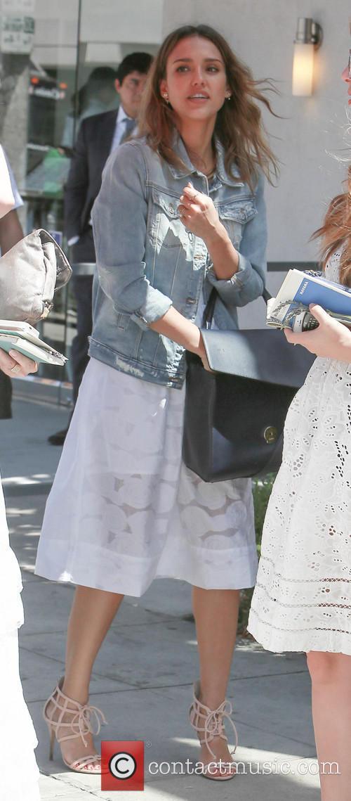 Jessica Alba attends the wedding of designer Narciso...