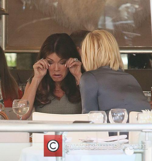 Lisa Vanderpump and Yolanda Foster have lunch at...