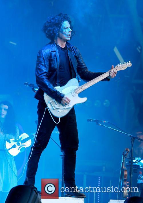Jack White performing at Glastonbury