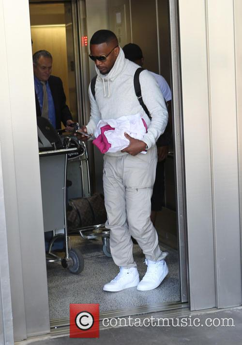 Jamie Foxx arrives at Los Angeles International (LAX) airport